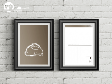 "Postkarte ""schlafender Hase"""