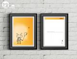 "Postkarte ""Roboter mit Ballon"""